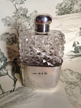 sterling silver ladies flask hallmarked antique england