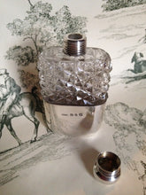 Flask - Sterling Silver and Glass - Ladies - Birmingham England 1895