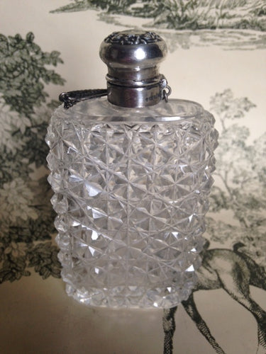 Flask - Sterling Silver and Glass with Chatelaine - Ladies - American
