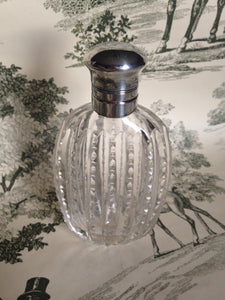 Flask -Sterling Silver and Glass - Ladies - American - Vintage