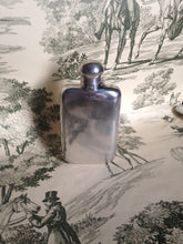 antique hip flask sterling silver gentleman's chester england