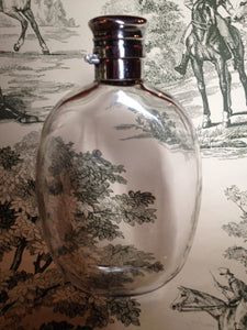 gorham glass sterling flask gentleman's antique american