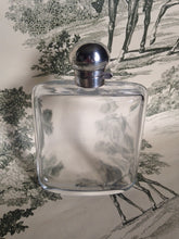 sterling bubbled glass gentleman gentleman's flask edwardian antique hip