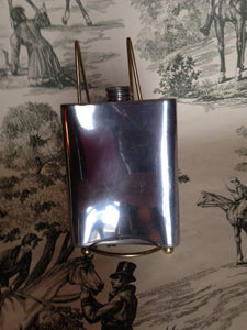 Flask - English Hoffritz Pewter Vintage Hip Flask With Filigree