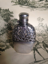 Flask - Sterling Silver and Glass - Ladies - Victorian - Removable Cup