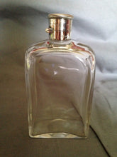 Flask Sterling Silver and Glass England Hallmarked Antique 1904