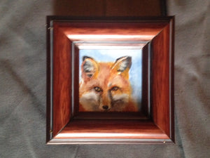 Painting - Oil of The April Fox by Middleburg Artist Cody Leeser