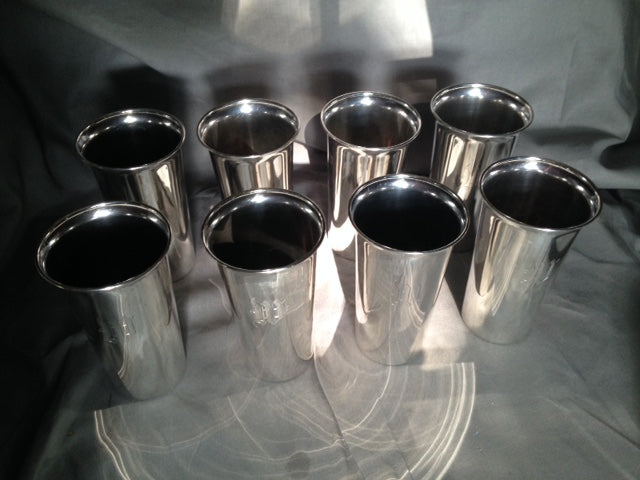 Mint Julep Goblets - Sterling Silver - Set of Eight 12 Ounce Goblets/Cups