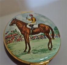 Crummles and Company Porcelain and Enamel Round Box - Jockey with Interior Polo Player