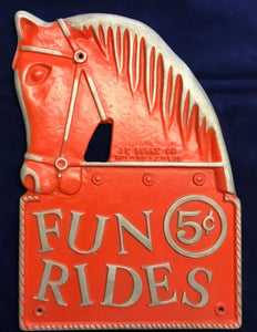 Horse Ride Vintage Cast Metal Sign