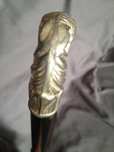 Whip Fabulous Custom Design Sterling Silver Horse Head Cap & WWII Swagger Stick Known Provenance