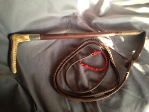 Whip - Estate Gentleman's Plaited Fox Hunting Whip - Vintage
