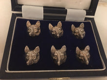Menu Holders - Sterling Silver - English - Fox Mask - Vintage