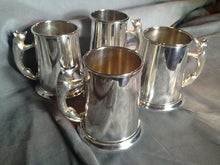 Mugs - Set of Four Silver Over Brass Fox Handle Mugs Made in England