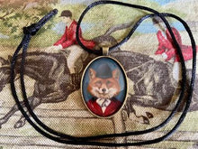 Necklace Rope with Bronze Tone Formal Fox Image