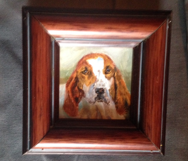 Painting - Oil - Fox Hound by Middleburg Fine Artist Cody Leeser