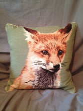 Pillow -Wool Needlepoint - Fox Mask