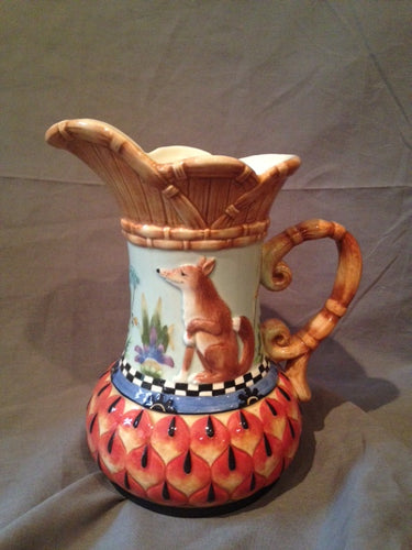 Pitcher - Fitz and Floyd - Cheshire Fox