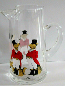 Pitcher Snooty Fox Glass