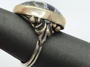 Ring Sterling Silver with Reverse Intaglio Bay Horse Profile