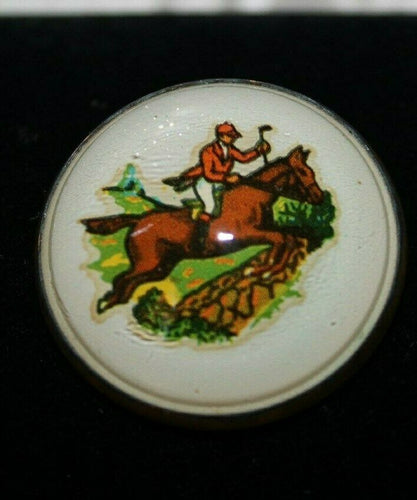 Fox Hunter Rosette Brass Pin