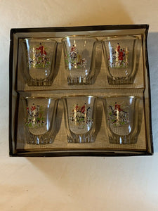 Shot Glasses Vintage Set of Six in Original Box