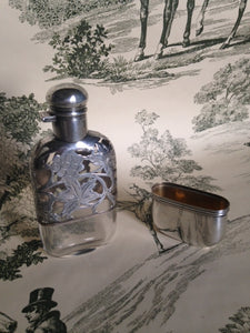 Flask - Sterling Silver and Glass - Ladies - Victorian