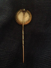 Stick Pin/Locket Striking 18Kt Yellow Gold Reverse Crystal of a Retriever Known Provenance