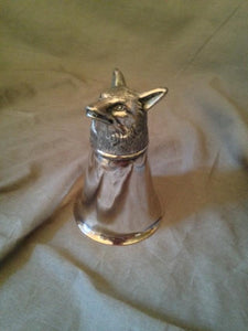 Stirrup Cup - Silver Plate - Fox Head Form Base
