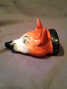 Stirrup Cup Staffordshire Fox Head Porcelain