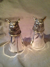 Stirrup Cups - Leonard Silver Over Brass - Fox Head Bases