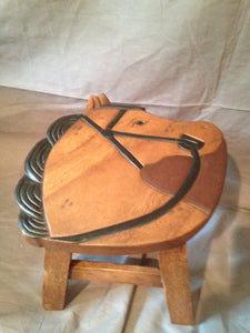 Stool - Wood - Horse Head With Bridle