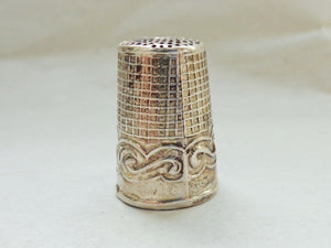 Thimble - Sterling Silver - Vintage to Antique - Horse Head Profile