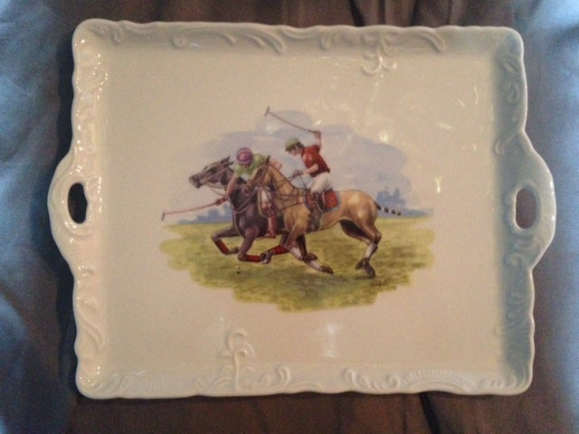 Tray - Porcelain Polo Theme Tray