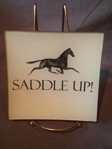 Tray - Glass - Saddle Up!