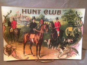"Tray - Glass Serving Tray ""Hunt Club"""
