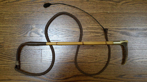 Whip - Ladies - Fox Hunt - Bamboo - With Thong - Swaine & Co. - Antique