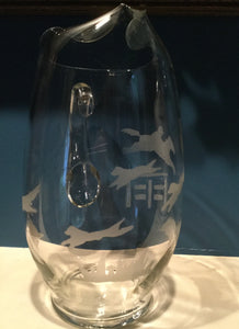 Pitcher - Etched Glass of Fox Hunt