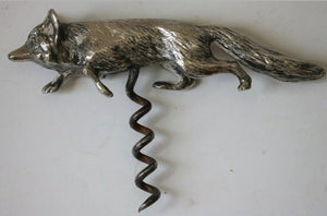 Corkscrew Fox Form Chrome Handle Vintage