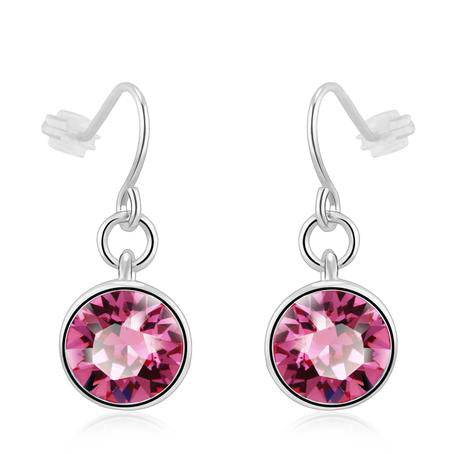 Ear Hook Earrings Pink SW Elements