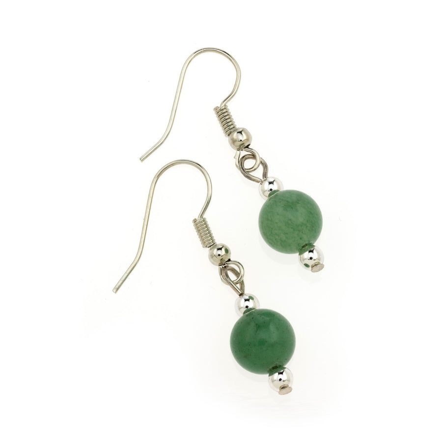 Green Aventurine MCB 8mm Earring