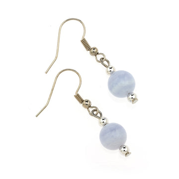 Blue Lace Agate MCB 8mm Earring