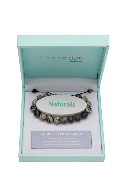 Zebra Matrix Natural Stone Bracelet