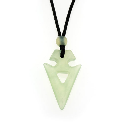 New Jade Tribal Arrow Pendant