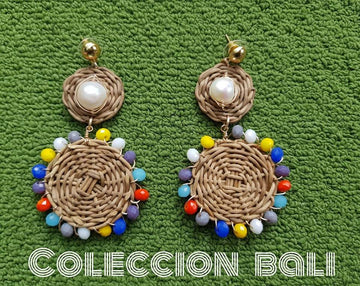 WICKER EARINGS