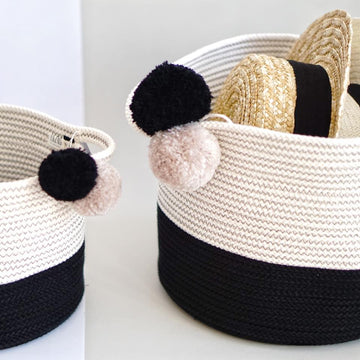 MEDIUM COTTON BASKET 2 COLORS