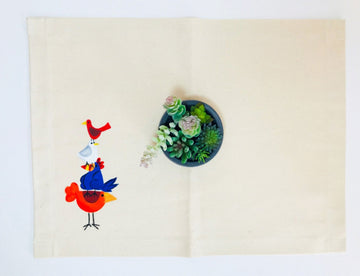 Hand Painted Placemat - Chicken