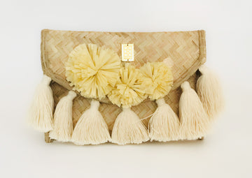 NATURAL WICKER ENVELOPE BAG BEIGE