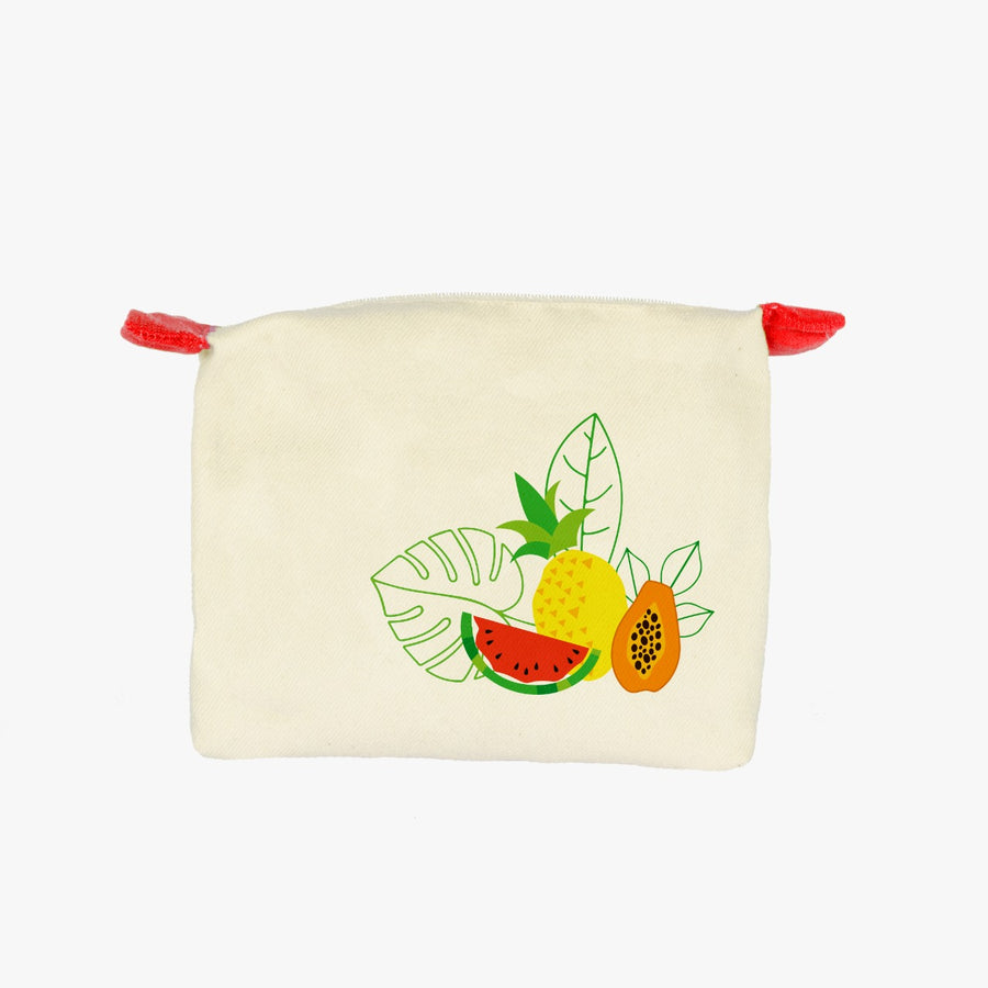HAND PAINTED FRUIT COSMETIC BAG
