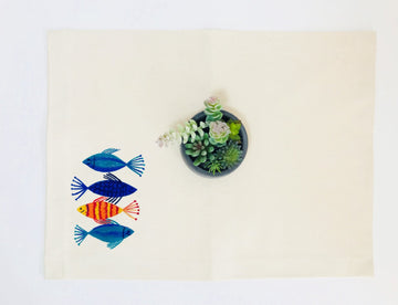 Hand Painted Placemat - Fish